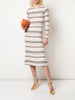 LONG SLEEVE FITTED DRESS IN SILK CASHMERE
