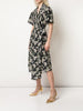 ASYMMETRICAL DRESS IN PRINTED COTTON VOILE