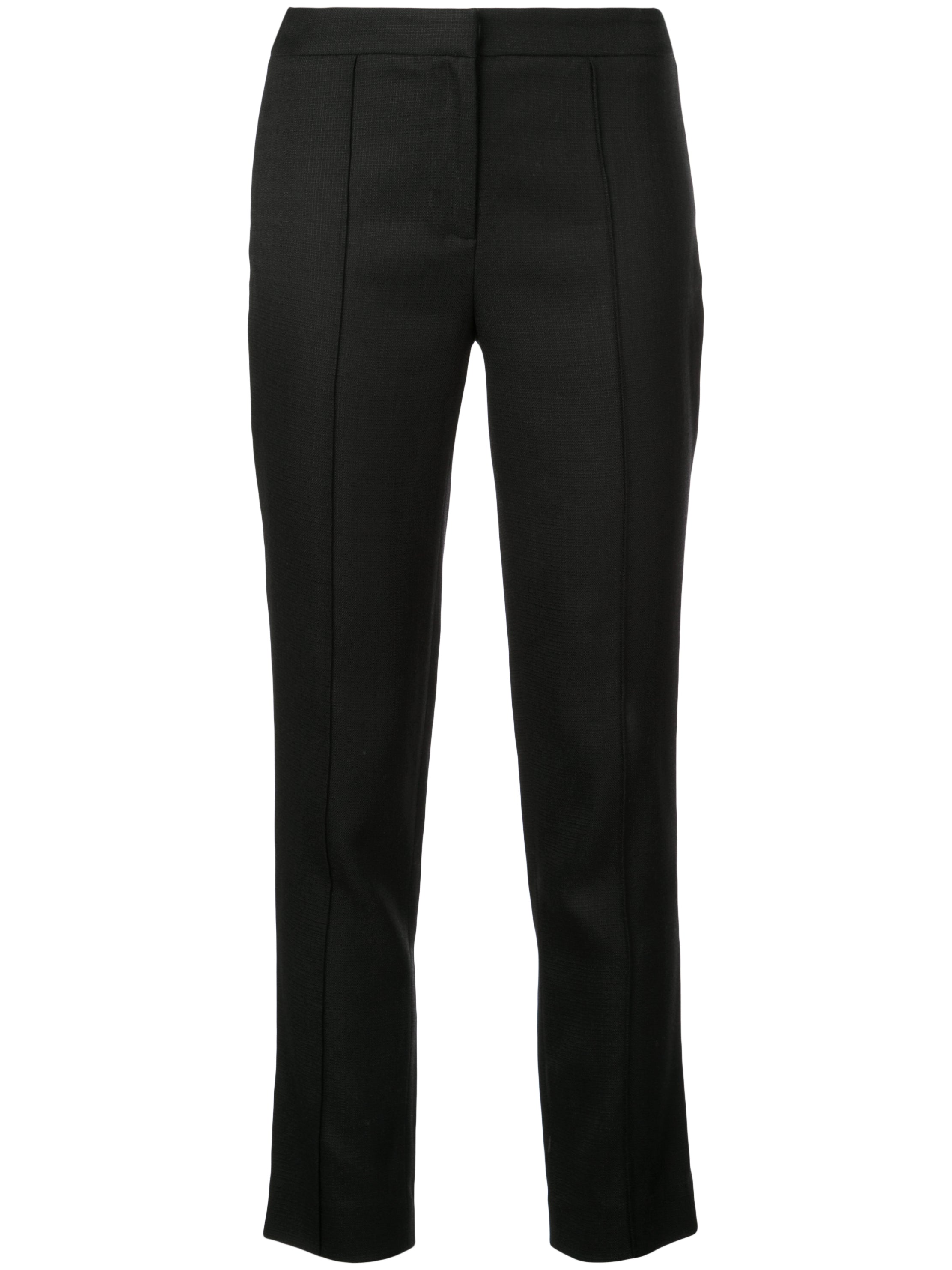 STRETCH CANVAS CIGARETTE PANT WITH PINTUCK