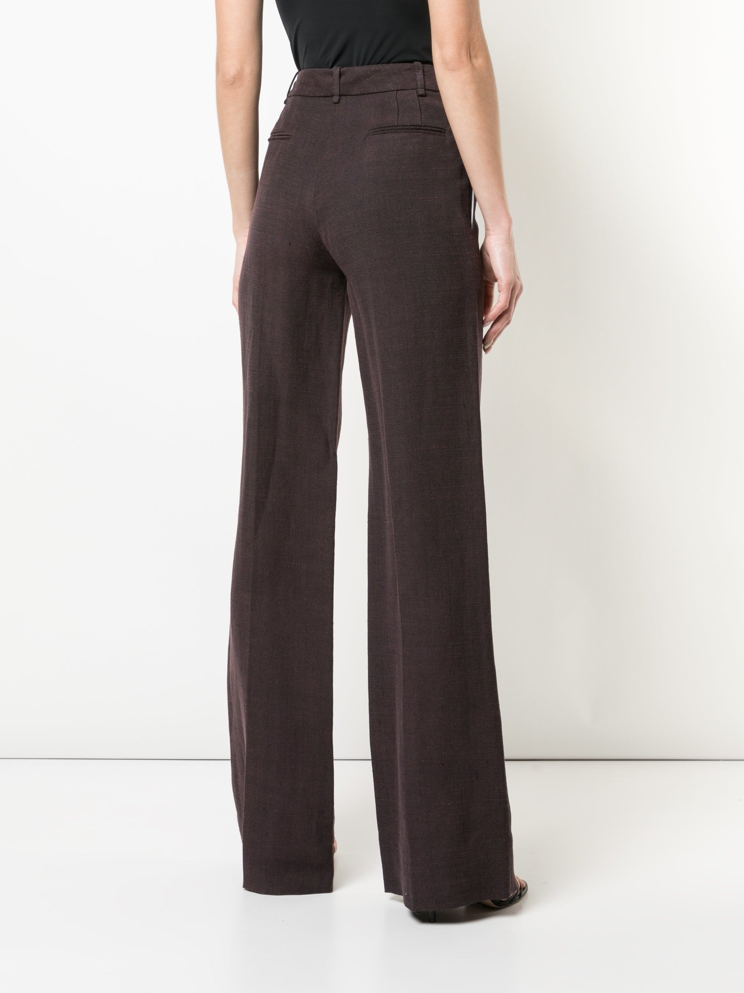 STRETCH CANVAS WIDE-LEG TROUSER
