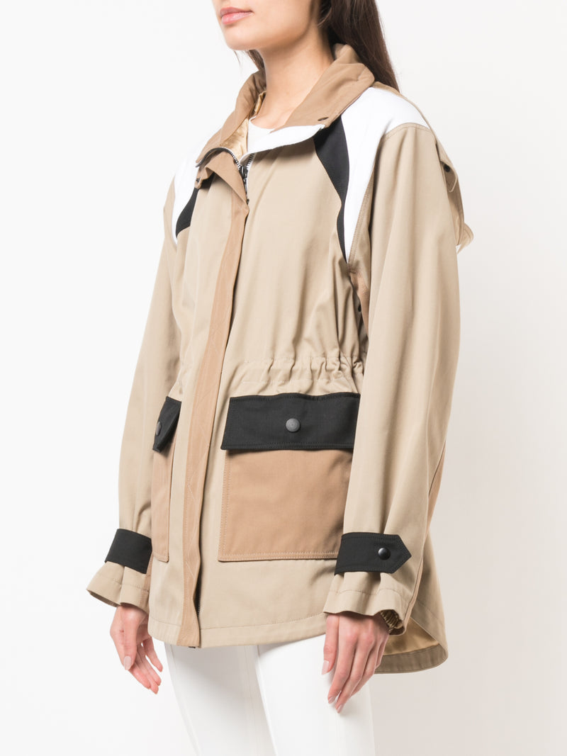 TECHNICAL COTTON TWILL HOODED ANORAK
