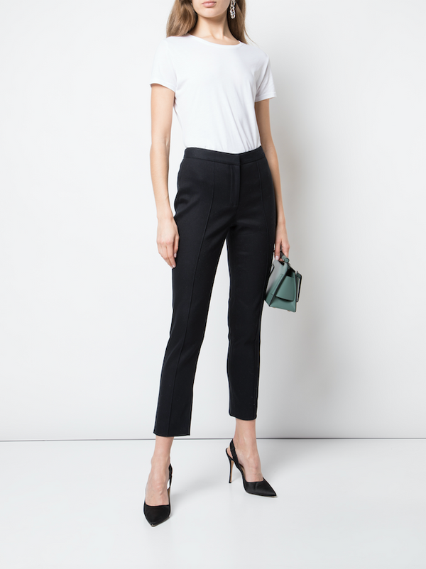 TEXTURED COTTON CIGARETTE PANT