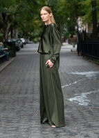 WIDE-LEG SWEATPANT IN SILK CHARMEUSE