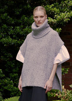 TURTLENECK KNIT IN MARLED CASHMERE