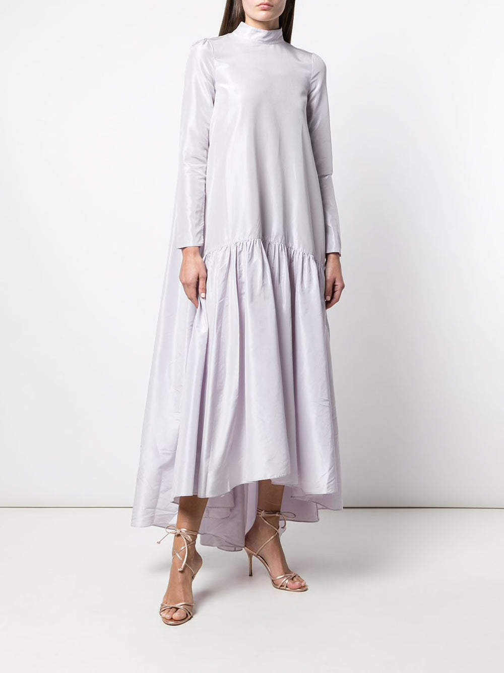 LONG SLEEVE GOWN IN TAFFETA