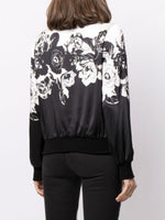 BOMBER JACKET IN PRINTED CHARMEUSE
