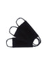 BLACK PIMA COTTON MASKS, SET OF 3