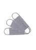 HEATHER GREY PIMA COTTON MASKS, SET OF 3