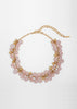 SEMI PRECIOUS BEAD CLUSTER NECKLACE