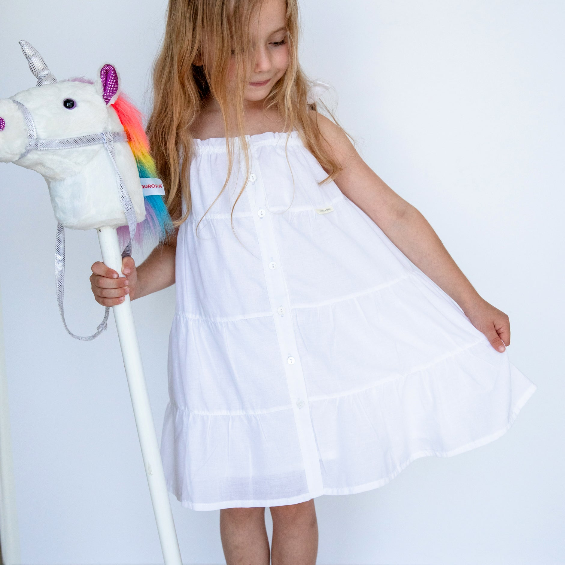 White Tiered Sun Dress