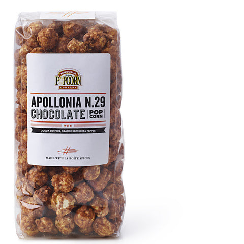 chocolate popcorn with apollonia blend