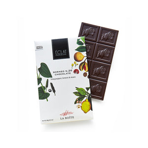 chocolate bar with borneo spice blend