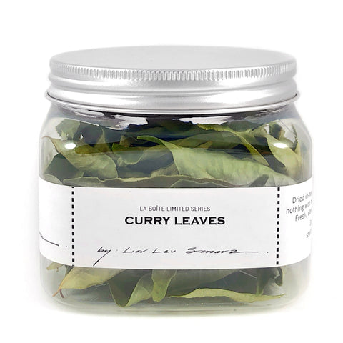 jar of dried curry leaves