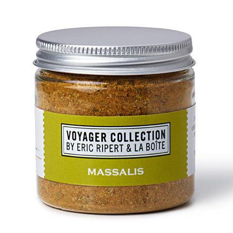 jar of massalis spice blend