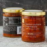 jar of lemon-sultana marmalata