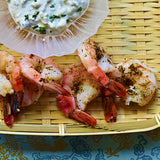 poached shrimp with chios