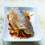 striped bass with izak seasoning
