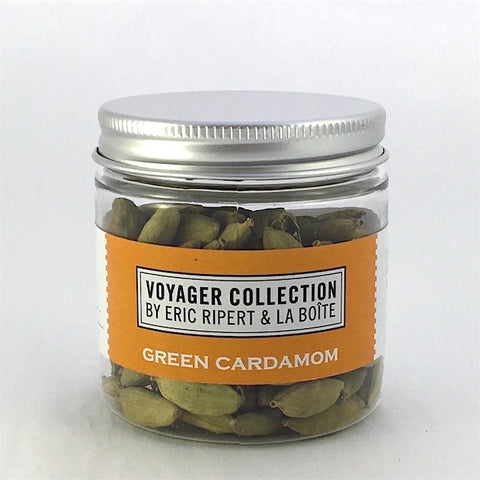 jar of green cardamom pods