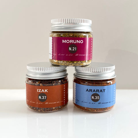 mini set of three mediterranean spice blends