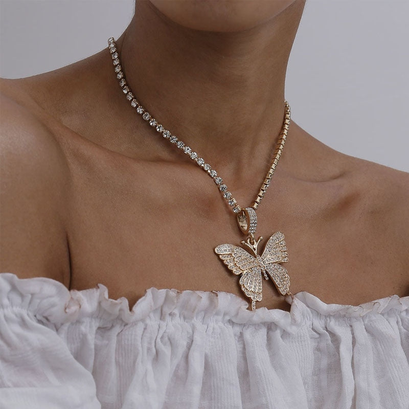 Butterfly Tennis Chain Necklace