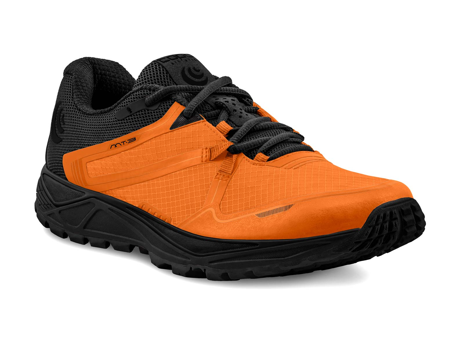 Topo Athletic MT-3 Mens Lightweight Trail Running Shoe in Orange/Black