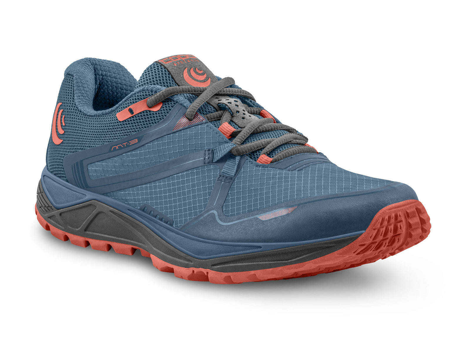 Topo MT-3 Women's Lightweight Trail Running Shoe in Blue/Coral