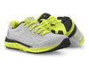 Pair of Topo Fli-Lyte 3 Mens Road Running Shoes in Silver/Lime