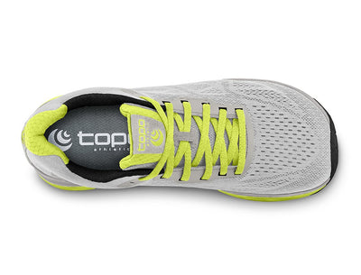 Topo Fli-Lyte 3 Womens Road Running Shoe in Silver/Lime – Top View