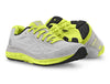 Pair of Topo Fli-Lyte 3 Womens Road Running Shoes in Silver/Lime