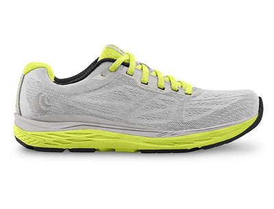 Topo Fli-Lyte 3 Womens Road Running Shoe in Silver/Lime – Side View