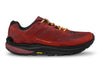 Topo MTN Racer Mens Trail Running Shoe in Red/Orange - side view