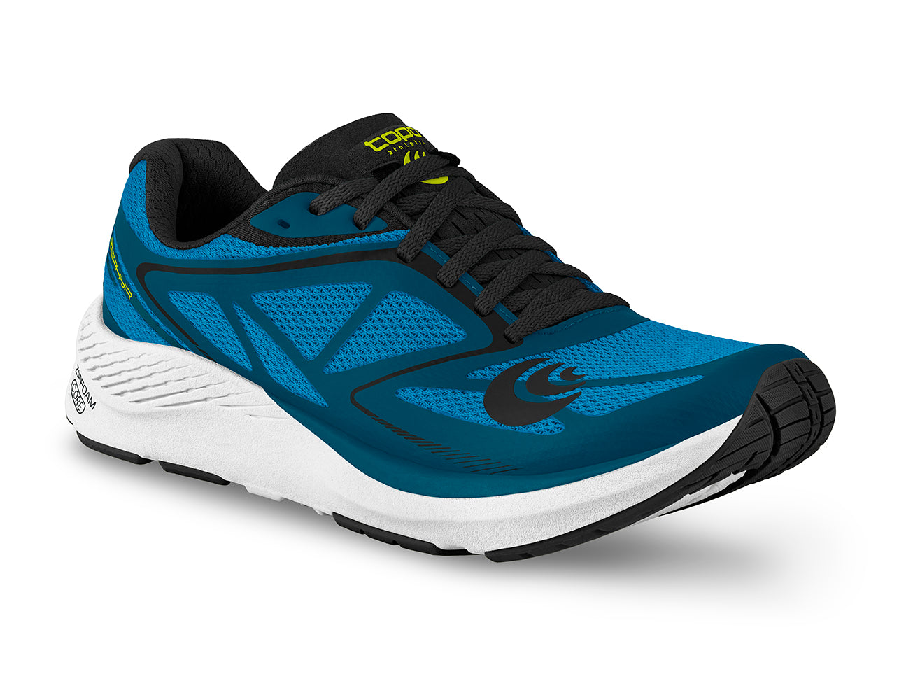 Topo Zephr Mens Distance Road Running Shoe in Blue/Black