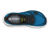 Topo Zephr Mens Distance Road Running Shoe in Blue/Black – Top View