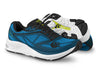 Pair of Topo Zephr Mens Distance Road Running Shoes in Blue/Black