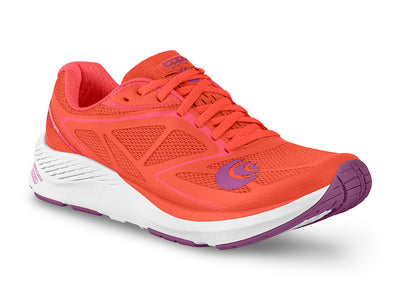 Topo Zephr Womens Distance Road Running Shoe in Salmon/White
