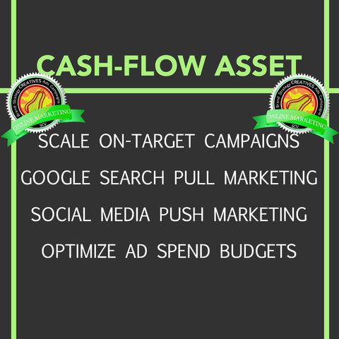Squashen Online Marketing SCV Social Media Advertising Cash Flow Producing Asset Graphic