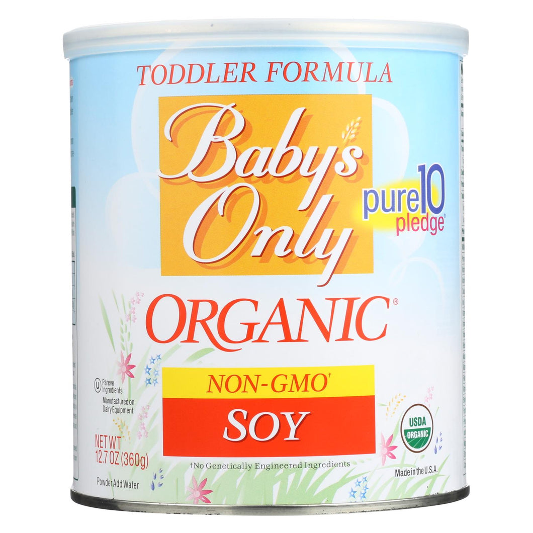 Baby's Only Organic Soy Iron Fortified Toddler Formula - Soy Formula - Case Of 6 - 12.7 Oz.