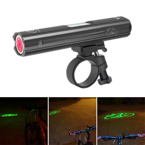 Ultralight 150lm COB Bead Bicycle Signal Tail Light USB Rechargeable Clip Light