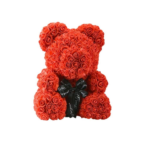OURS EN ROSES ROUGES 25 CM - L'Univers des Peluches