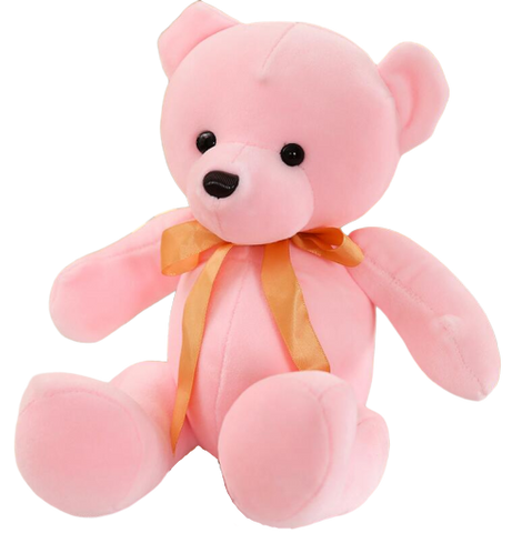 OURSON EN PELUCHE ROSE 22 CM - L'Univers des Peluches