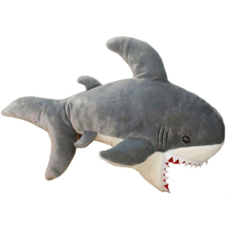 PELUCHE GRAND REQUIN BLANC 90 CM - L'Univers des Peluches