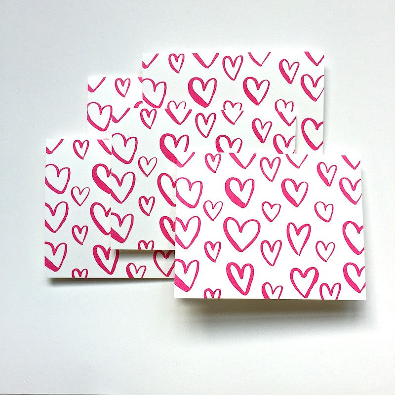 Heart Note Cards: Set of 5