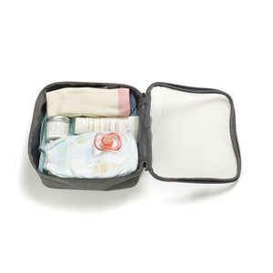 Storksak Travel Cabin Carry-on Grey hospital bag small packing block filled | Maternity hospital bag | Storksak - Award-winning Baby Changing Bags & Accessories