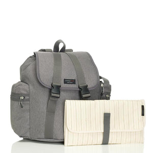 Storksak Travel Backpack Grey Nappy Bag with change mat | Backpack nappy bag | Storksak - Award-winning Baby Nappy Bags & Accessories