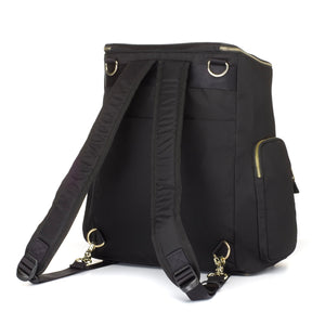 Storksak Alyssa The convertible baby nappybag without compromise /as backpack / leather and gold