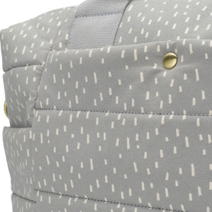 Organic Tote Rain Drop Pale Grey