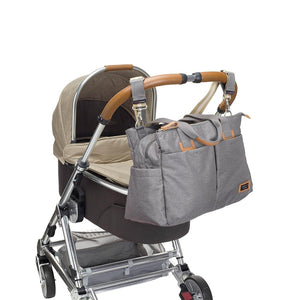 Storksak Travel Shoulder bag Grey changing Bag on buggy | Shoulder bag | Storksak - Award-winning Baby Changing Bags & Accessories