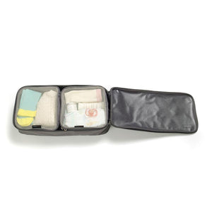 Packing Blocks Grey Baby accessories small packing blocks packed inside large packing block filled | Storksak Travel Baby accessories | Storksak - Award-winning Baby Changing Bags & Accessories