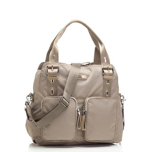 Alexa Taupe Baby Nappy Bag | shoulder bag Nappy Bag | Storksak – Award-winning Baby Nappy Bags & Accessories