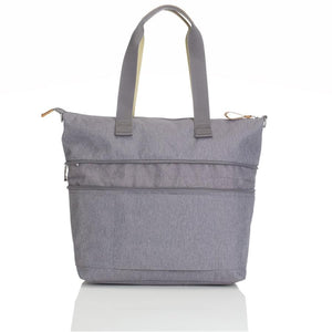 Storksak Travel Expandable tote Grey hospital bag expanded view | Maternity hospital bag | Storksak - Award-winning Baby Changing Bags & Accessories